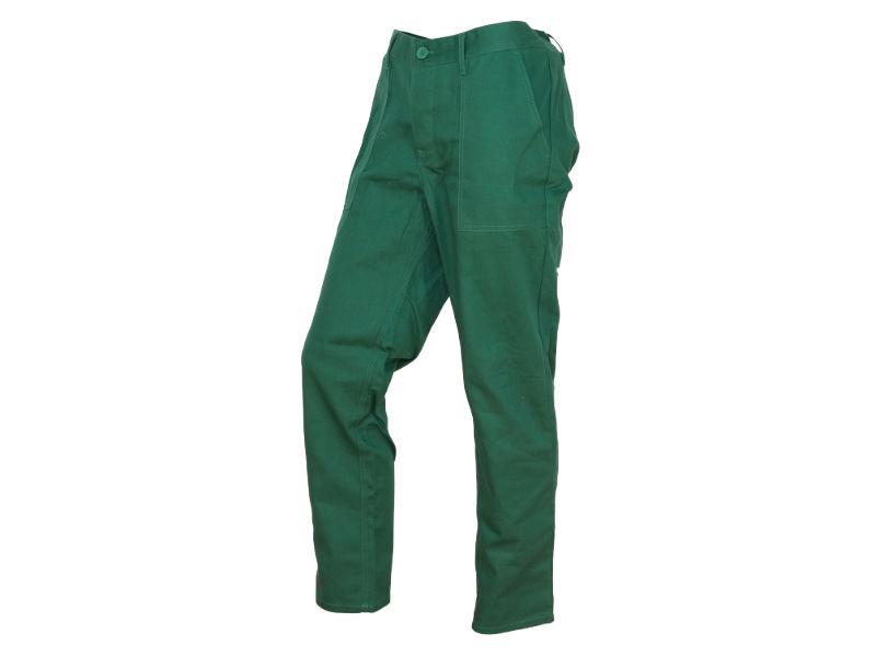 spodnie do pasa zielone